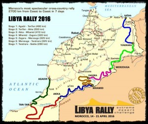 Libya Rally map 7 stages